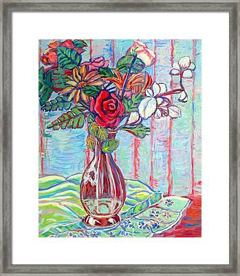 The Red Rose Framed Print by Kendall Kessler