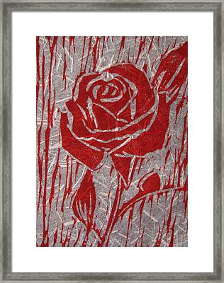 The Red Rose Framed Print by Marita McVeigh