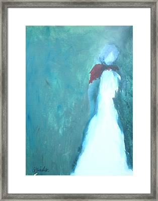 The Red Scarf Framed Print by Andrea Friedell