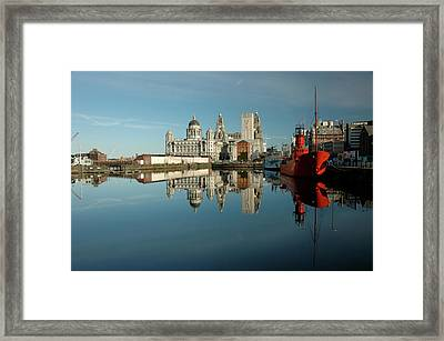 Framed Print featuring the photograph The Red Ship by Jonah  Anderson