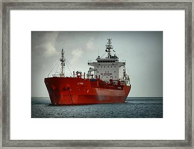 The Red Ship Framed Print