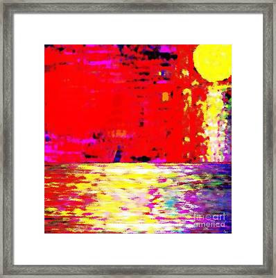 The Red Sky Framed Print by Israel  A Torres