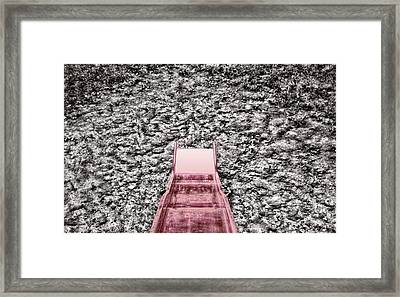 Red Slide Framed Print by Kellice Swaggerty