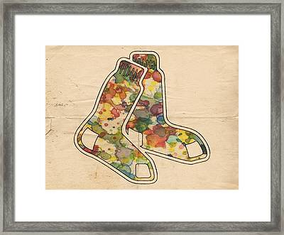 The Red Sox Framed Print by Florian Rodarte