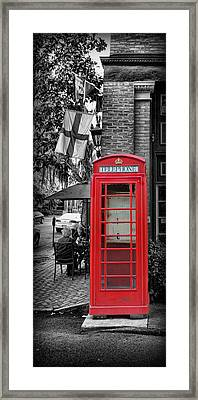 The Red Telephone Box - Time For Tea IIi Framed Print by Lee Dos Santos