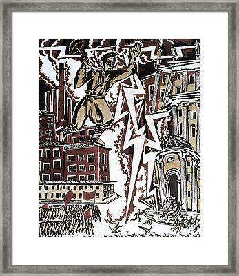 The Red Thunderbolt 1919 Framed Print by Ignaty Nivinisky