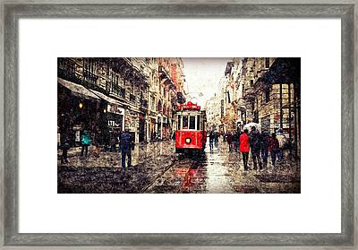 The Red Tram 2 Framed Print