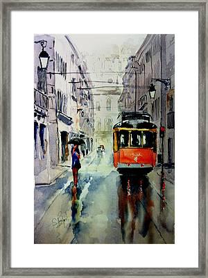 The Red Tram Framed Print