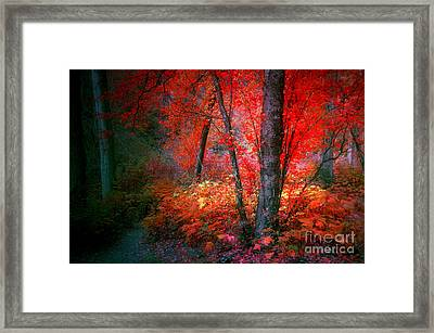 The Red Tree Framed Print