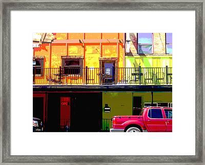 The Red Truck Framed Print