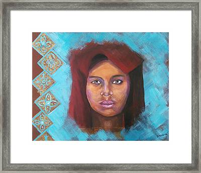 The Red Turban Framed Print