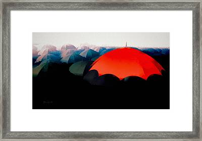 The Red Umbrella Framed Print by Bob Orsillo