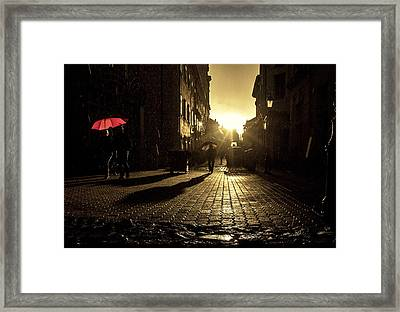 The Red Umbrella Framed Print by Christian  Svastits