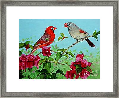 The Redbirds Framed Print