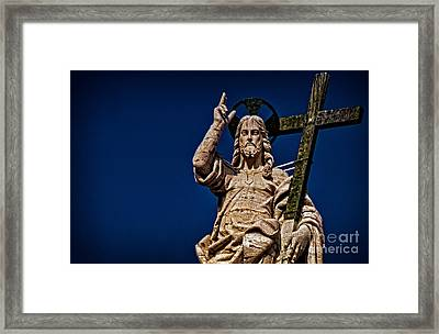 The Redeemer Framed Print by Jaymes Williams