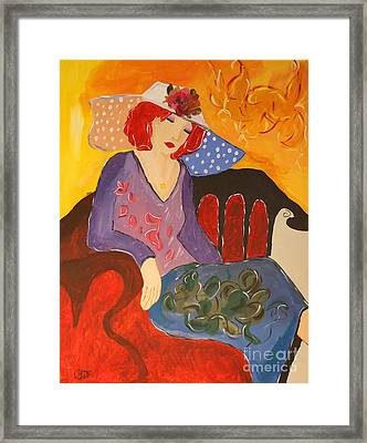 The Redhead Framed Print