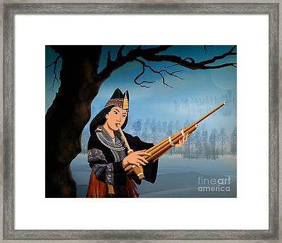 The Reed Piper Framed Print by Bedros Awak