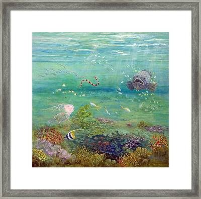 The Reef Dwellers Framed Print by Marie Green
