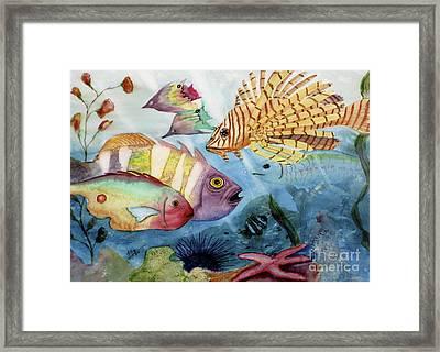 The Reef Framed Print