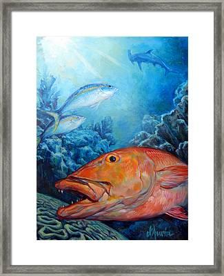 The Reef Framed Print by Tom Dauria