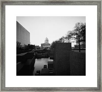 The Reflecting Pool And Memorial Of General Macarthur Framed Print by Thomas D McManus
