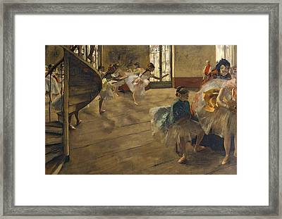 The Rehearsal, C.1877 Framed Print by Edgar Degas