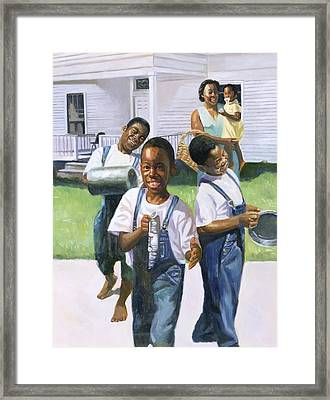 The Rehearsal Framed Print