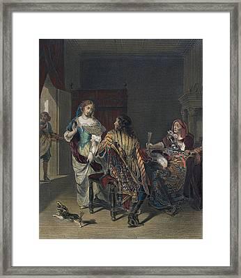 The Rejected Proposal Framed Print by Verkolje, Jan (1650-1693), Dutch