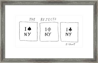 The Rejects Framed Print