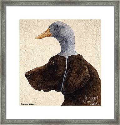 The Reluctant Retriever... Framed Print by Will Bullas