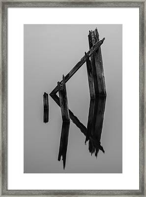 The Remains Bw Framed Print by Curtis Knight