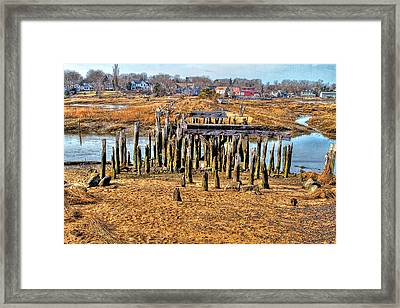 The Remains Of A Wellfleet Bridge Framed Print