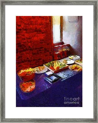 The Remains Of The Feast Framed Print by RC deWinter