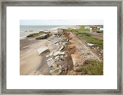 The Remains Of The Godwin Battery Framed Print