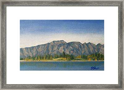 Framed Print featuring the painting The Remarkables  by Jane  See