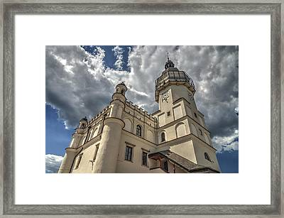 The Renaissance Town Hall In Szydlowiec In Poland Seen From A Different Perspective Framed Print
