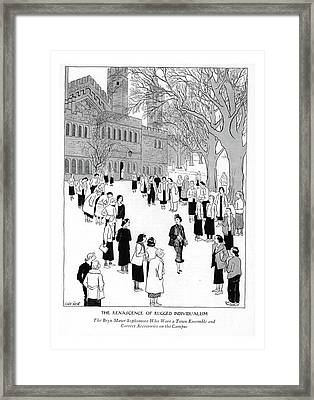 The Renascence Of Rugged Individualism  The Bryn Framed Print by Carl Rose