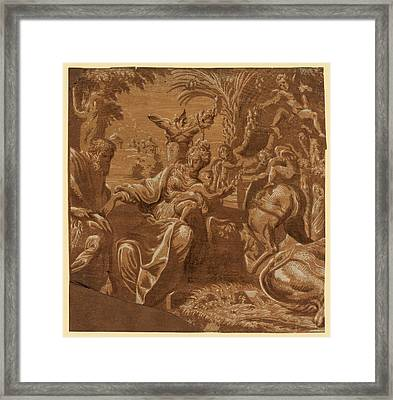 The Rest On The Flight Into Egypt Framed Print by Egyptian School