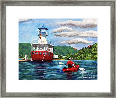 Out Kayaking Framed Print
