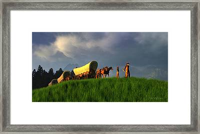The Restless Scout Framed Print by Dieter Carlton