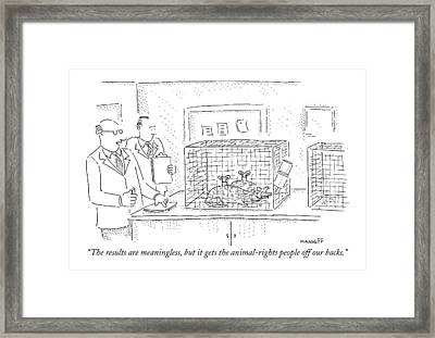 The Results Are Meaningless Framed Print