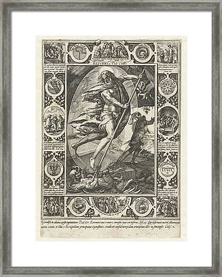 The Resurrection Of Christ, Print Maker Hendrick Goltzius Framed Print by Hendrick Goltzius And Philips Galle