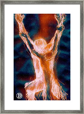The Resurrection Of The Christ Framed Print