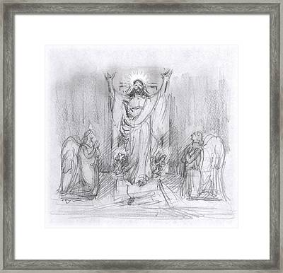 The Resurrection Framed Print by Walter Lynn Mosley