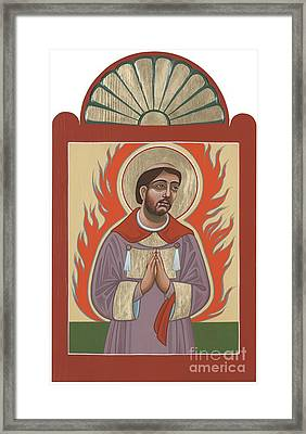 Framed Print featuring the painting The Retablo Of San Lorenzo Del Fuego 253 by William Hart McNichols