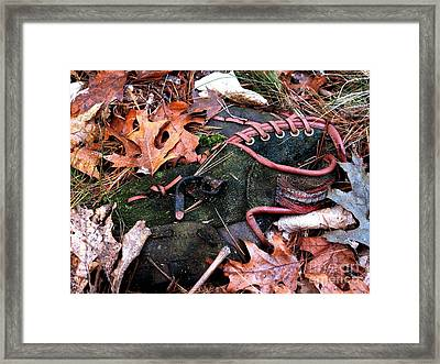 The Retired Baseball Player Framed Print