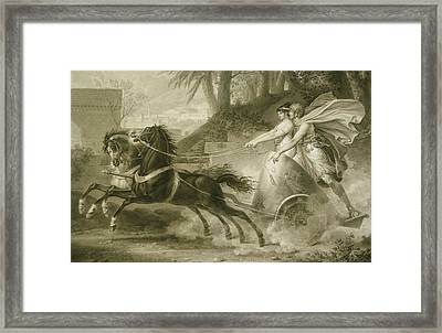 The Return From The Race Carle Vernet, French Framed Print by Litz Collection