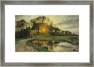 The Return Home Framed Print by Peder Monsted