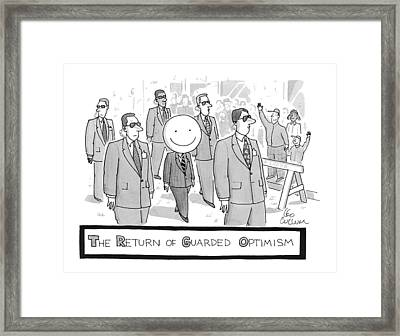 The Return Of Guarded Optimism Framed Print by Leo Cullum