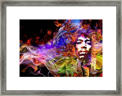 The Return Of Jimi Hendrix Framed Print